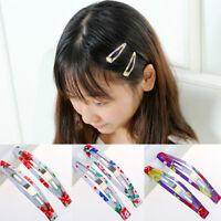 10Pcs Boutique Girl Baby Kids Hair Clips Snap Hairpin Grip Mixed Color Random