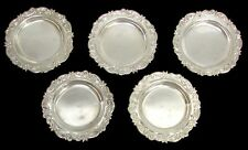 VINTAGE 5 MINI SILVER NUT DISHES