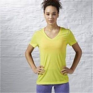 Reebok Workout Ready Supremium Tee Size S Yellow RRP £22 BNWT AY2167