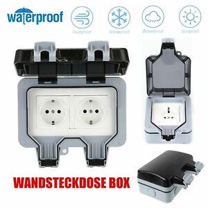Wandsteckdose Box Für Außenbereich Steckdose IP66 Wasserdicht & Staubdicht DHL