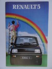 Renault 5 brochure 1981/1982 - Gordini,Automatic,GTL,TS,TL,Base models.