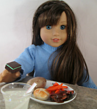 AG Doll Miniature Roast Beef, Potato and Carrot Dinner with Drink and Brownie