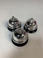 Silver Service Desk Bells Lot Of 3