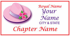Personalized name badge / tag FOR THE PINK HAT LADY OF SOCIETY MAGNETIC