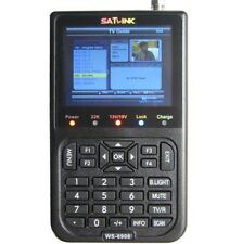 "SATLINK WS-6908 3.5"" LCD DVB-S FTA Digital Satellite Meter Satellite TV Receiver"