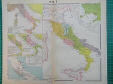 Old map : Italy 1931 / mappa antica Italia / landkaart Italië / antique