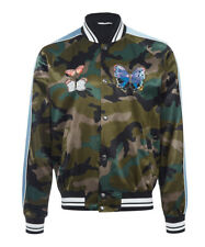 Authentic Valentino Camouflage Butterfly Rockstud Bomber Jacket Size 48 Medium