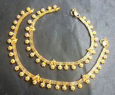 """Chain Anklet Set Women Jewelry ;a Indian Gold Plated 10"""" Payal Foot Designer"""