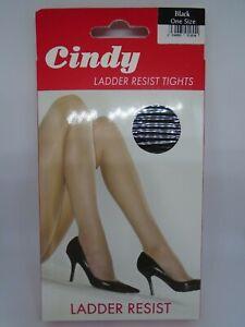 Cindy Ladder Resist Tights - One Size - Black