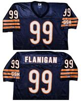 Vintage CHAMPION Chicago Bears Jim Flanigan NFL Football Jersey Blue Large L 44