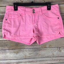 So Juniors Short 100% Cotton Denim Mini Short 5 Pocket Neon Pink Size 11