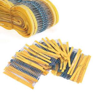 300PCS 30 Values 1/4W 1% Metal Film Resistors Resistance Assortment Kit Set