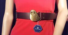 Jonathan Adler Leather Belt w/ Owl Buckle Size M (Brown)