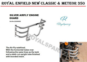 ROYAL ENFIELD NEW CLASSIC & METEOR 350 SILVER AIRFLY ENGINE GUARD