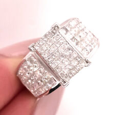 Ring in 14k White Gold 2.30ct Princess cut Diamond Right-Hand