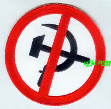 ANTI COMMUNIST AGAINST COMMUNISM PATCH EMBROIDERED IRON ON patriot biker nra