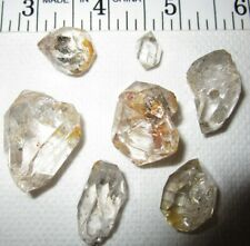 Herkimer Diamonds Lot Quartz Crystals 7 Pcs, 49 Grams, Clean, Bright!