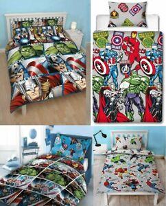 Marvel Avengers Duvet Cover Set - Thor / Captain America Kids Bedding Linen Hulk