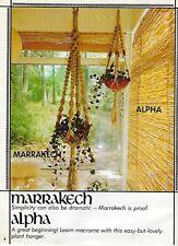 Vintage 1970's Hanging Planter Pot Hanger Patterns in Macrame Fever Book #7203