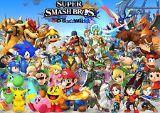 Super Smash Bro's Character Wall  Poster  22 x 34 inch ( Fast Shipping ) New 801