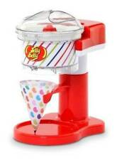 NIB-Jelly Belly Sno Motion Ice Shaver, 4 Snow Cone Cups & Straws