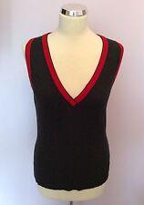 Woolen V Neck Sleeveless Jumpers & Cardigans for Women