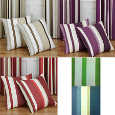 Polyester Striped Contemporary Decorative Cushions