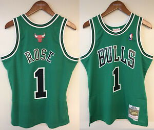 Derrick Rose Chicago Bulls Mitchell & Ness Authentic St. Patrick's Day Jersey
