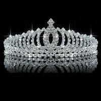 Wedding Rhinestone Crystal Tiara Hair Band Princess Bridal Crown Headband UK