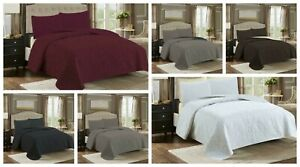 Luxury 2/3 PC Bed Spread Comforter Set Coverlet Soft Quilt Over-sized Bed Cover
