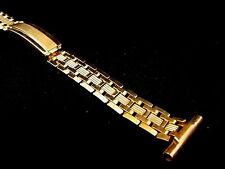 "Vintage NOS Mens Speidel deployment watch band bracelet 1940s YGF 19mm 3/4"""