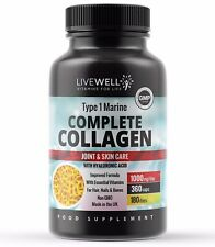 Hydrolysed Marine Collagen 1000mg Capsules | Hair, Skin, Nails & Joints Tablets