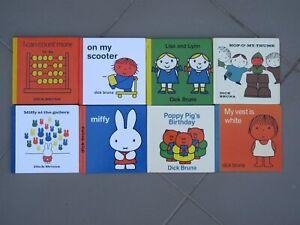 Dick Bruna x 8 some vintage MIFFY POPPY PIG Lisa and Lynn Hop-O'-My-Thumb colour