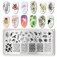 Nail Art Stamping Plate Image Decoration Summer Holiday Flamingos Palm tree BPL2