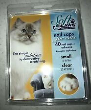 NEW Soft Claws Clear Nail Caps for Cats Small