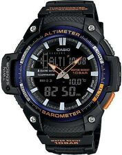 Casio #SGW-450H-2BTN Twin Sensor Analog/Digital Men's Black/Blue Sports Watch