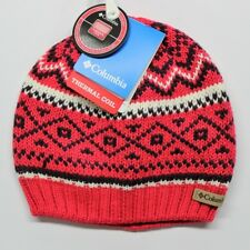 Columbia Thermal Coil White Pine Beanie (CU9215) Punch Pink - Adult Unisex  - O bc6a5bc3ad50