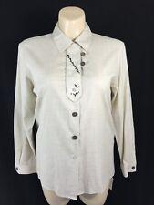 NEW Perry Landhaus German XLarge 46 Pleat Embroider Wood Button Shirt Oktober
