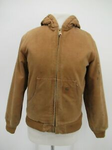 P8217 Carhartt Boy's Quilt Lined Hood Active Work Jacket Size L 10/12