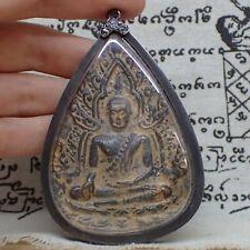 Phra Buddha Chinnarat Ancient Thai Art Pendant Chinnaraj Amulet Wat Sathat