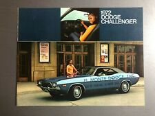 1972 Dodge Challenger Showroom Advertising Sales Folder Brochure RARE Awesome