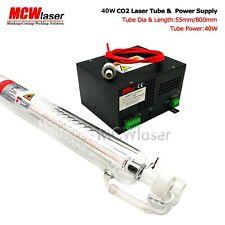 40W CO2 Laser Tube 80cm di lunghezza + Alimentatore 220V INCISORE Cutter