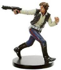 Star Wars Mini -  HAN SOLO SCOUNDREL  #7  (BOUNTY HUNTERS - VERY RARE FIGURE!!)