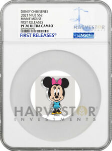 2021 CHIBI COIN - DISNEY SERIES: MINNIE MOUSE- NGC PF70 FIRST RELEASES