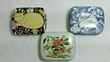 3 Metal Pill Boxes Great for Trinkets Vitamins Mints Gum Jewelry