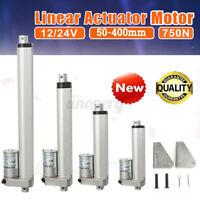 Linear Actuator Motor 12-24V High Speed 30mm 50mm/s Door Opener +2 Mount Bracket