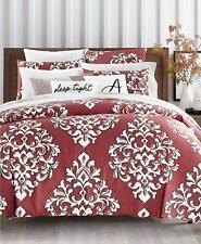 Charter Club Damask Designs Outline Damask 3 Pc Full Queen Duvet Cover Set Red