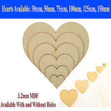Wooden MDF Hearts Shapes Wedding Craft Tags Embellishments Christmas Decoration