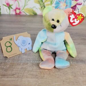 "Ty Beanie Babies Garcia The Bear Plush 8"" 1993  Style #4051 Retired PVC w/tag"