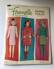 Vintage 1966 Meet Francie Paper Dolls ~ nicely Punched!